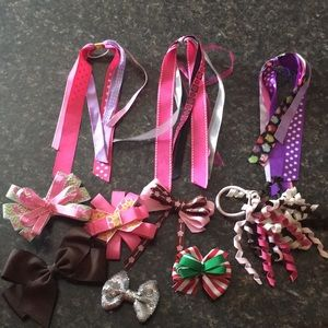 Other - Girls hair bows ponytails and ribbons accessories